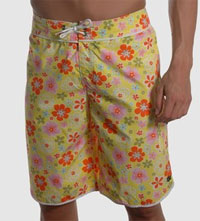Flowered Swim Trunks